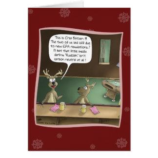 Lustige Weihnachtskarte: Die vorübergehende Grußkarte