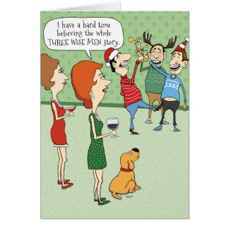 Lustige Weihnachtskarte: Drei weise Männer Grußkarte