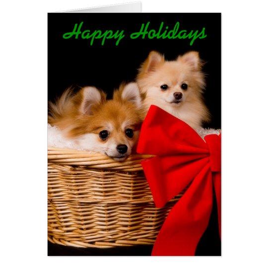 Lustige Weihnachtskarte - Pommies Grußkarte