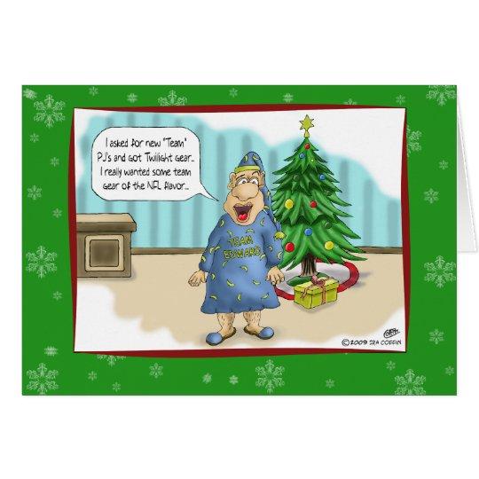 Lustige Weihnachtskarten: Dämmerungsgeschenk für Grußkarte