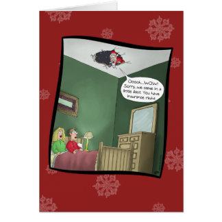 Lustige Weihnachtskarten: Der Unfall Grußkarte