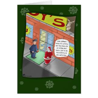 Lustige Weihnachtskarten: Einbruch Grußkarte