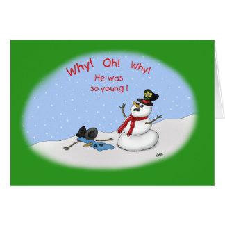 Lustige Weihnachtskarten: Einschmelzen Karte