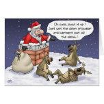 Lustige Weihnachtskarten: Fest Grußkarte