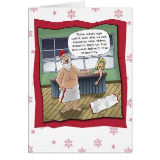 Lustige Weihnachtskarten: Freche und Nizza Regel Grußkarte