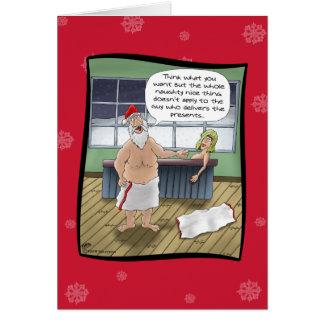 Lustige Weihnachtskarten: Freche und Nizza Regeln Grußkarte