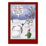 Lustige Weihnachtskarten: Größen-Angelegenheiten