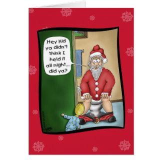 Lustige Weihnachtskarten: Gruben-Halt Grußkarte