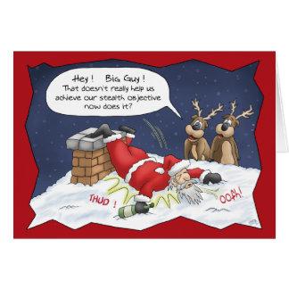 Lustige Weihnachtskarten: Heimlichkeits-Ziel Grußkarte