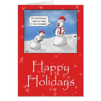 Lustige Weihnachtskarten: Keine Felsen! Karte