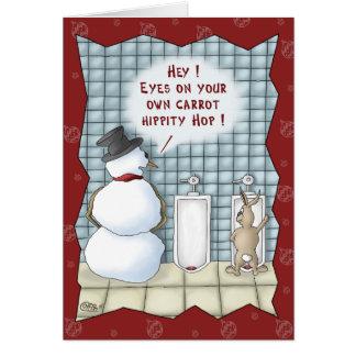 Lustige Weihnachtskarten: Privatleben bitte Grußkarte