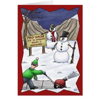 Lustige Weihnachtskarten: Pro-Schnee Grußkarte