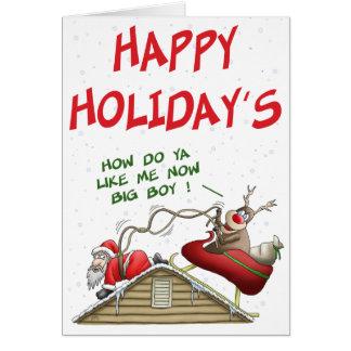 Lustige Weihnachtskarten: Rollen-Umkehrung Grußkarte