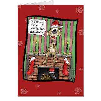 Lustige Weihnachtskarten: Schutzhund im Dienst Grußkarte