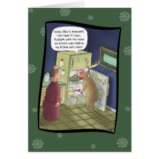 Lustige Weihnachtskarten: Überfallen des Grußkarte