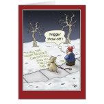 Lustige Weihnachtskarten: Ununterbrochener Fluss