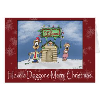 Lustige Weihnachtskarten: Verdammt frohe Karte