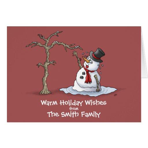 lustige weihnachtskarten warme gr e gru karte zazzle. Black Bedroom Furniture Sets. Home Design Ideas