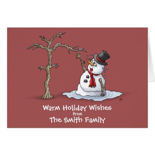 Lustige Weihnachtskarten: Warme Grüße Karte