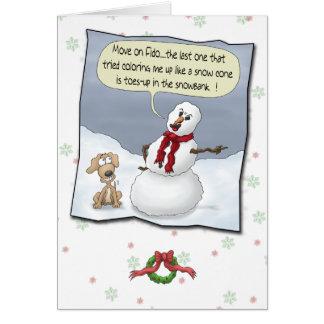 Lustige Weihnachtskarten: Zehen oben Grußkarte