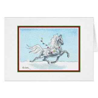 Lustige Weihnachtspferdekarte Karte