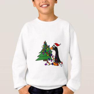 Lustige WeihnachtsPinguin-Kunst Sweatshirt
