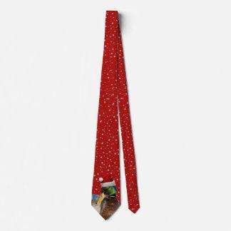 Lustige Weihnachtssankt-Ente Individuelle Krawatte