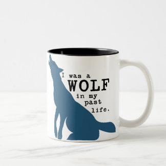 Lustige Wolf-Tasse Zweifarbige Tasse