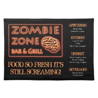 Lustige Zombie-Nahrung neues ruhiges schreiendes Stofftischset