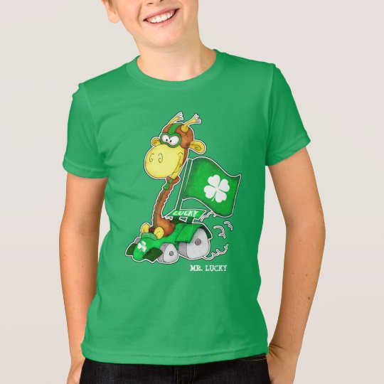 Lustigen Giraffen-St Patrick TagesT - Shirts