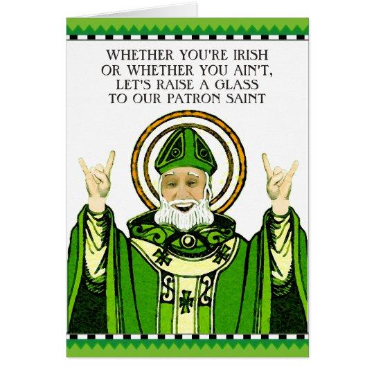 Lustigen St Patrick Tag Grußkarte