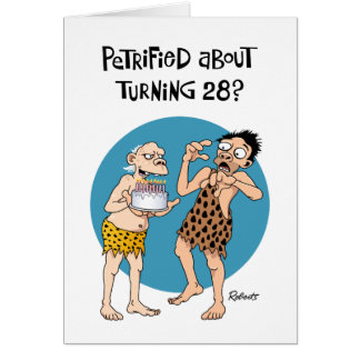 Lustiger 28. Geburtstags-Gruß Karte