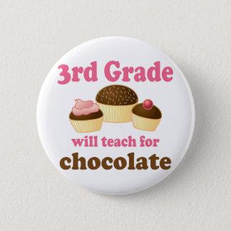 Lustiger 3. Grad-Lehrer-Knopf Runder Button 5,1 Cm