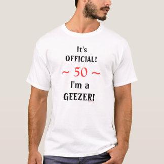 Lustiger 50. 60. Geburtstagoffizielles T-Shirt