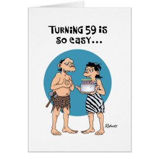 Lustiger 59. Geburtstag Karte