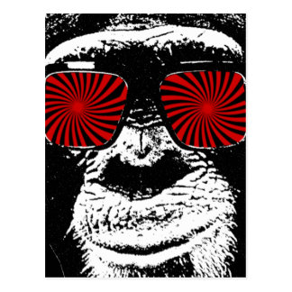 Lustiger Affe Postkarte