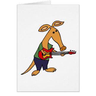 Lustiger alberner Aardvark, der elektrische Grußkarte