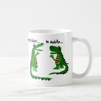 Lustiger Alligator, der mit Krokodil spricht Kaffeetasse