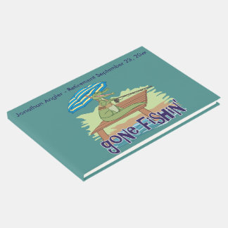 Lustiger Alligator gegangene Fischerei Gäste Buch
