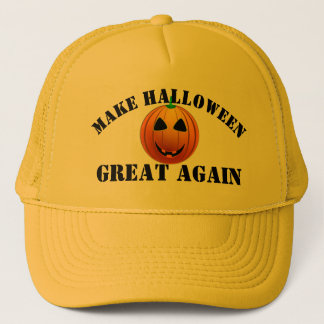 Lustiger amerikanischer Kürbis Halloween Truckerkappe