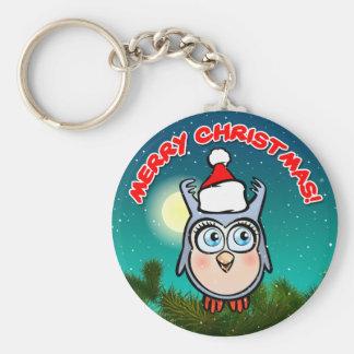 Lustiger Baby-Schrei mit Weihnachtshut Schlüsselanhänger