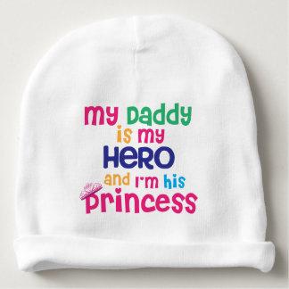 Lustiger Babyzitat Heldvati und Prinzessintochter Babymütze