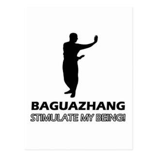 lustiger Baguazhang Entwurf Postkarte