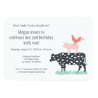 Lustiger Bauernhof-Geburtstags-Party Karte
