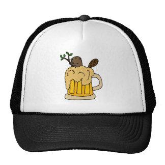 Lustiger Biber in der Bier-Tasse Kultmütze