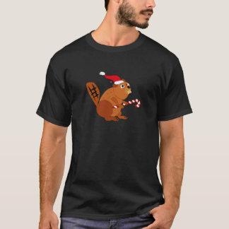 Lustiger Biber in der T-Shirt