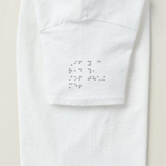 Lustiger Blindenschrift-T - Shirt - Hülsen