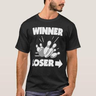 Lustiger Bowlings-Sieger-Verlierer T-Shirt