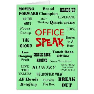 Lustiger Büro-Management-Jargon - Karte