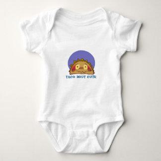 lustiger Cartoon des schüchternen Taco Baby Strampler